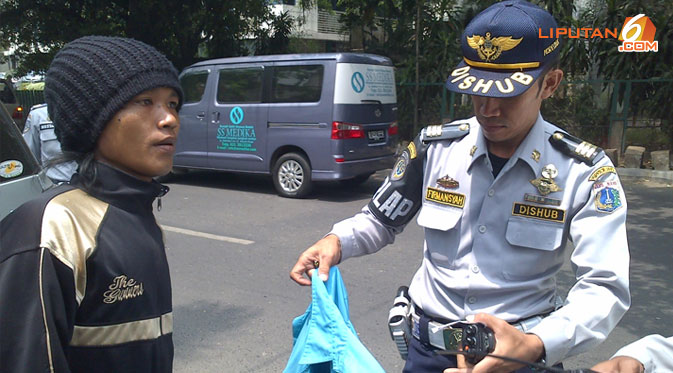 parkir 4 306 Kendaraan Terjaring Razia Parkir Liar di Jakarta Pusat