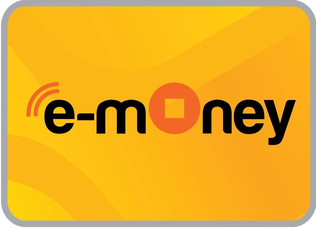 Stiker akrilik isi ulang ATM CASHLESS PAYMENT SYSTEM (E Money atau SISTEM PEMBAYARAN DIGITAL)